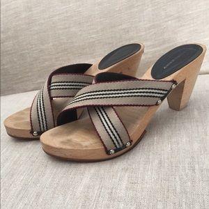 Burberry Wood Heel Sandal